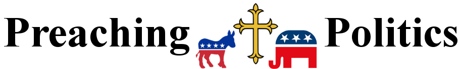 Preaching Politics Text, Audio, and Video Page Logo